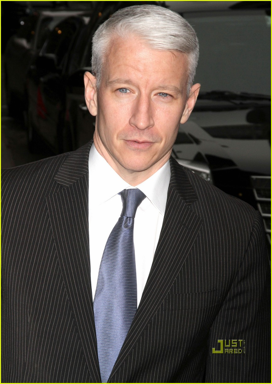 Anderson Cooper At The 'Late Show With David Letterman'