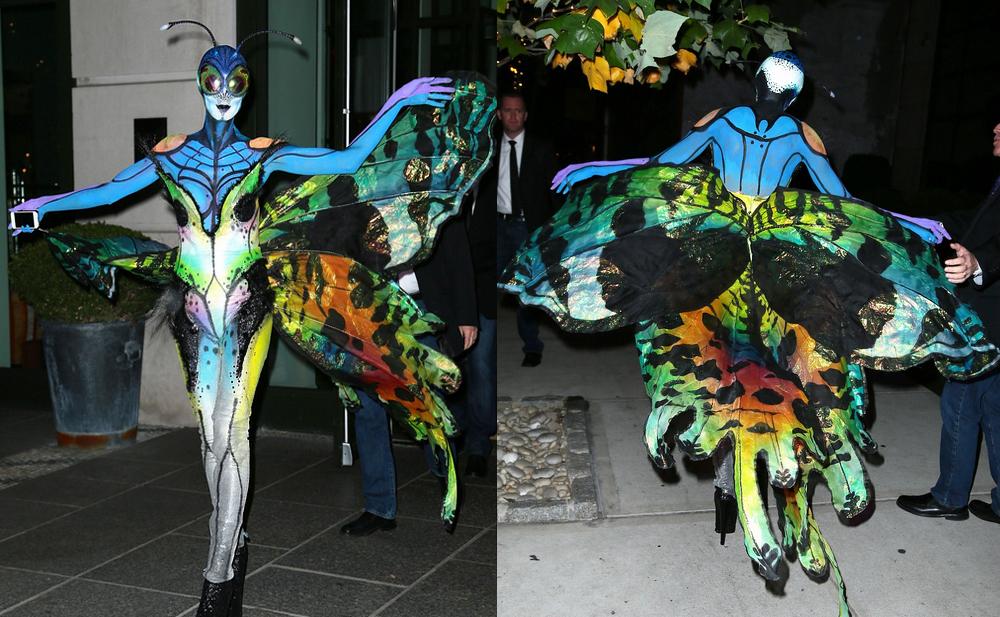 Heidi Klum halloween 2014 fly farfalla costume