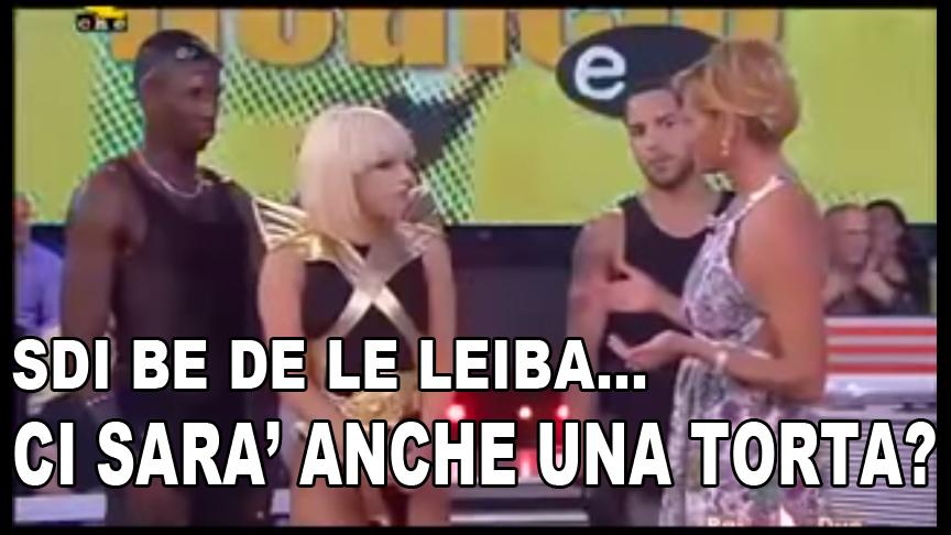 Simona Ventura Lady Gaga sdi be de le leiba