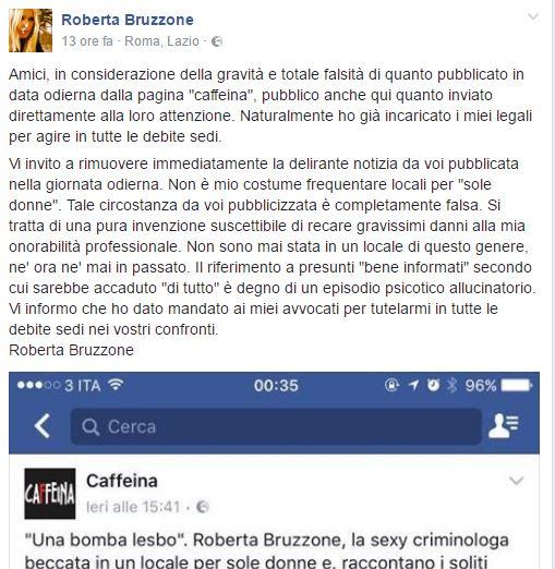 Roberta Bruzzone bar lesbo