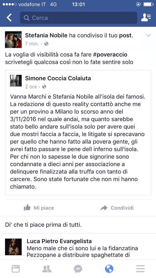 simone-coccia-stefania-nobile-wanna-marchi-video-isola-dei-famosi