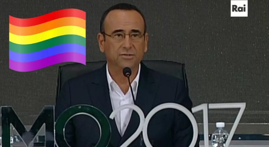 carlo conti rainbow gay video