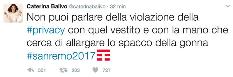 caterina balivo twitter diletta leotta sanremo