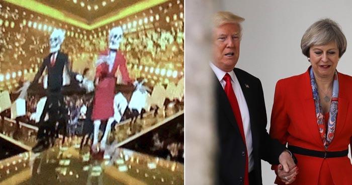 katy perry donald trump theresa may video