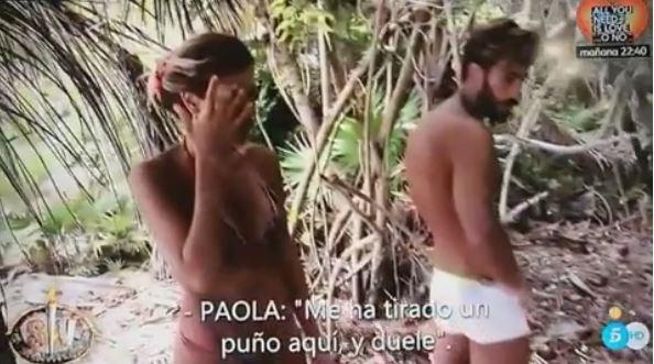 Paola Caruso riceve un pugno e sbrocca a Supervivientes (2)