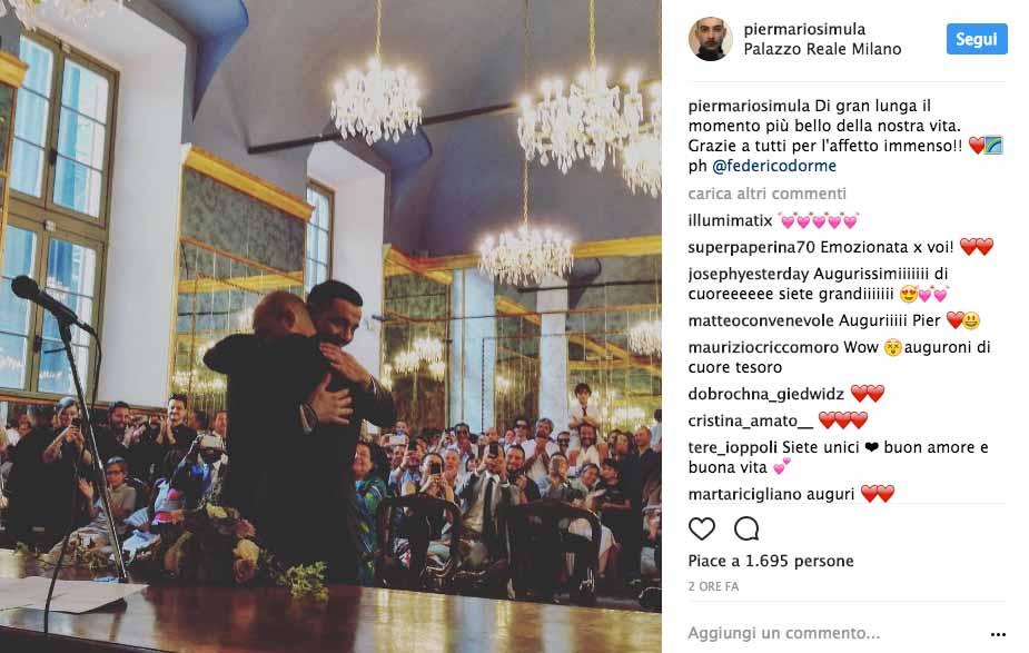 Diego Passoni e Pier Mario Simula si sono sposati 5
