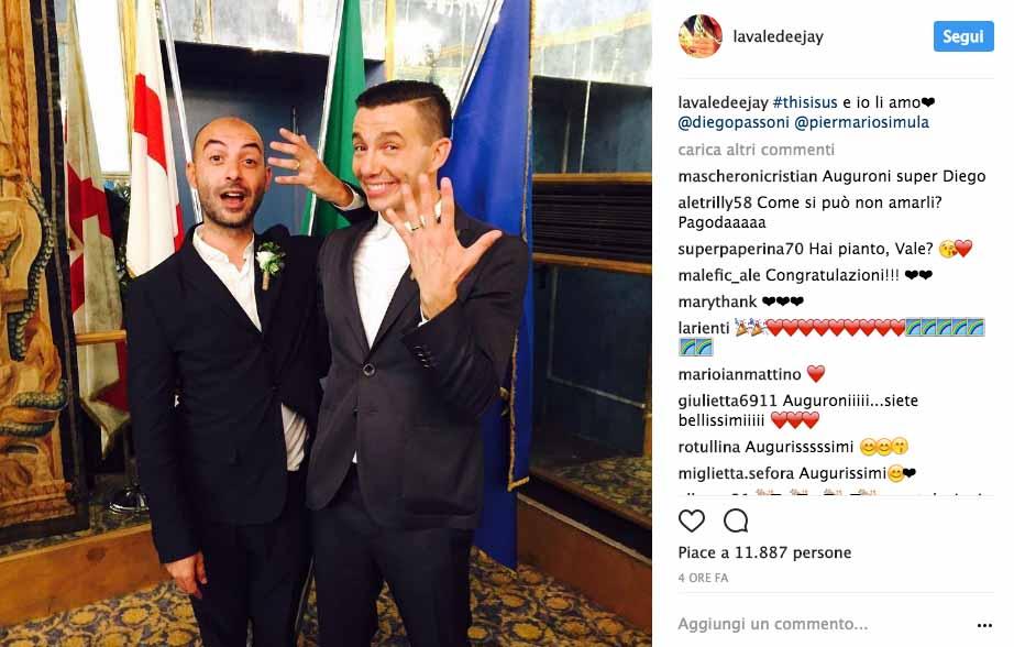 Diego Passoni e Pier Mario Simula si sono sposati