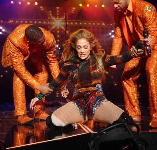 Jennifer Lopez incidente Las Vegas schiena