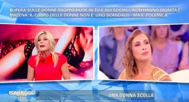 Patrizia Pellegrino e Malena