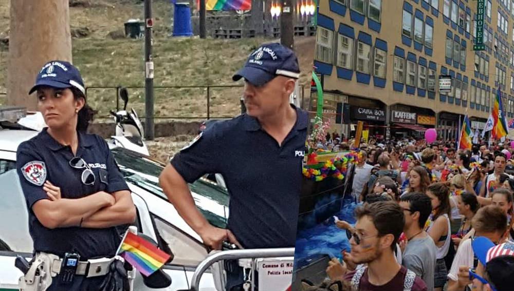 milano-pride-vigli-poliziotti-carabinieri-rainbow-video