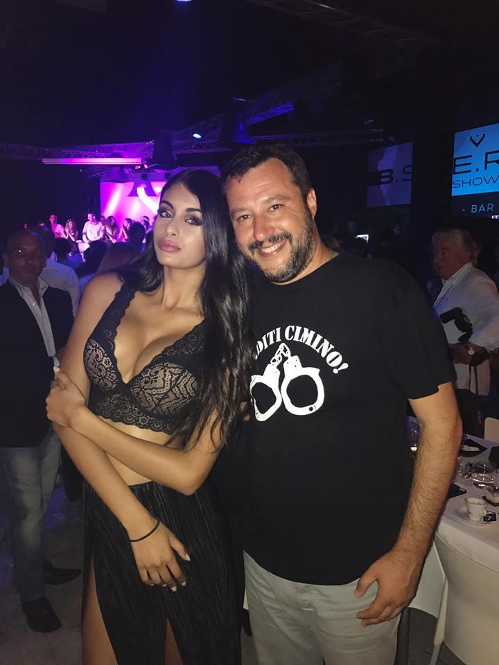 Ahlam El Brinis e Matteo Salvini