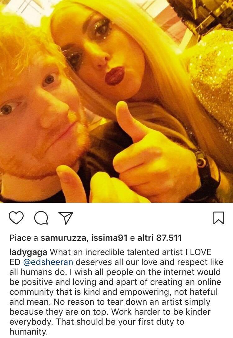 Lady Gaga Ed Sheeran