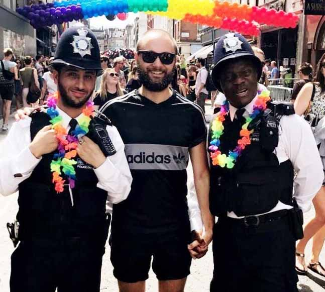 London Pride Police Rainbow