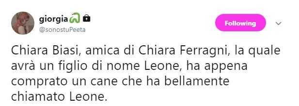 Chiara Ferragni, Chiara Biasi, Leone (1)