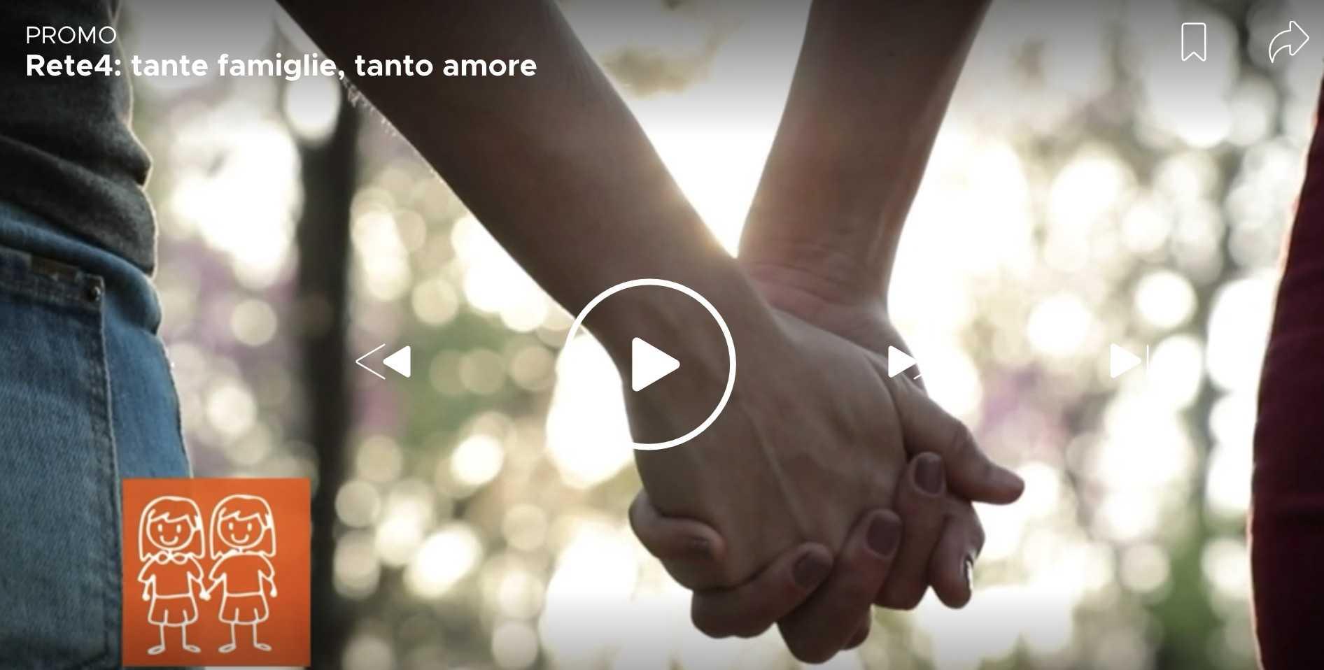 Mediaset Rete 4 spot famiglie gay